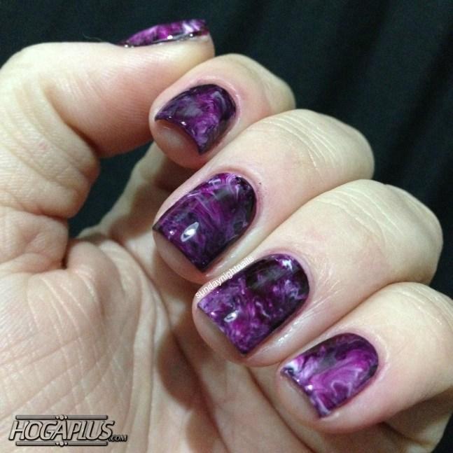 Smokey marble nail design ideas