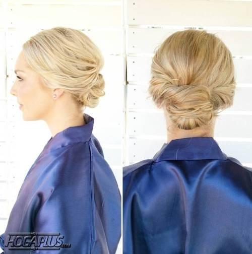 Twist bun Hairstyle For Short Hair