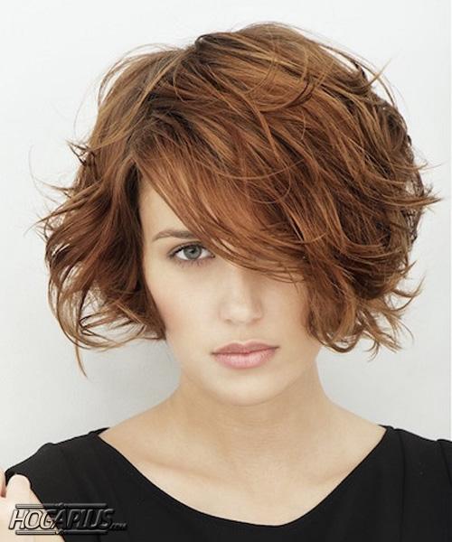 Volume Short bob hairstyle and haircut