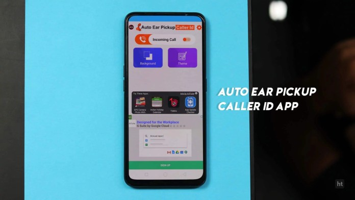 Auto ear pickup caller ID