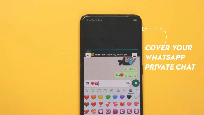 How to cover WhatsApp chat screen