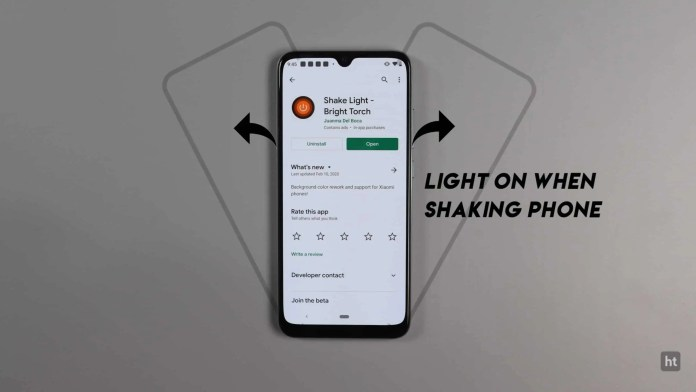 Turn on/off your phone Flashlight