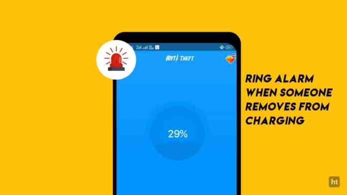 Ring alarm when someone remove