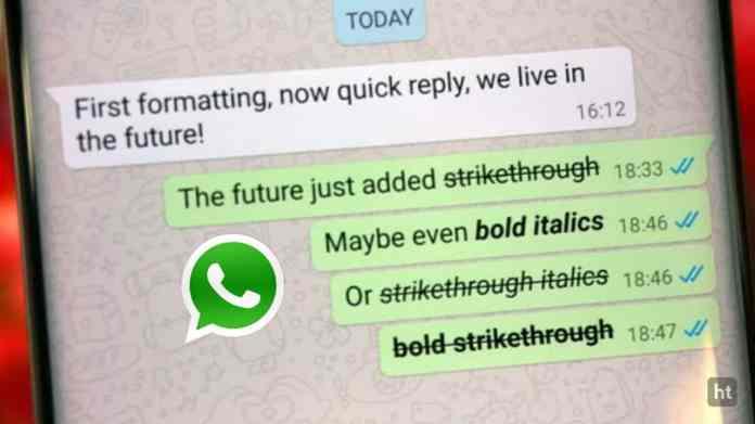 WhatsApp font change