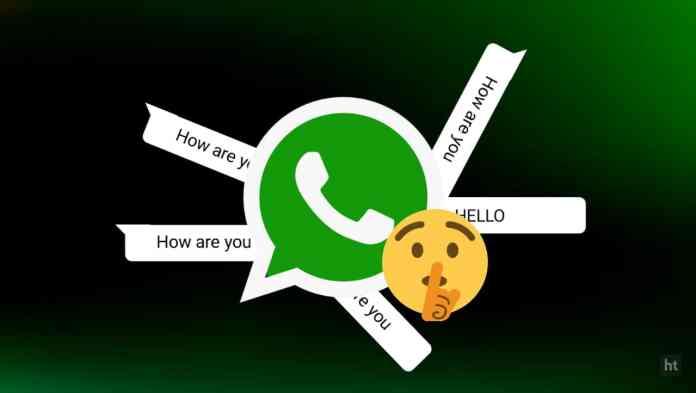 WhatsApp private mode