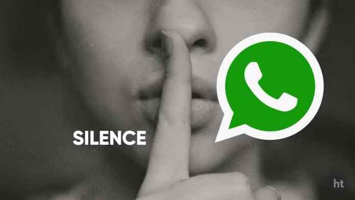 WhatsApp Silence permanent