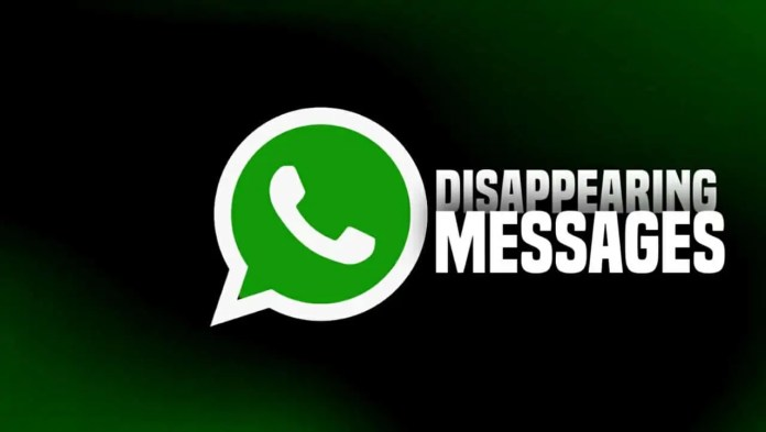 WhatsApp New disappearing message