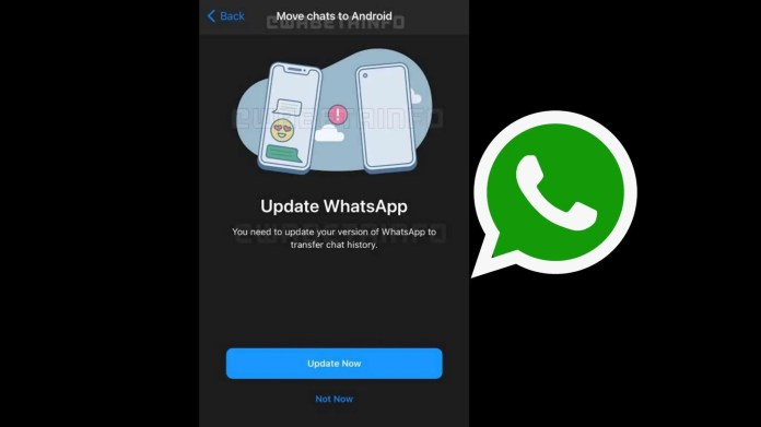 WhatsApp testing chat migration