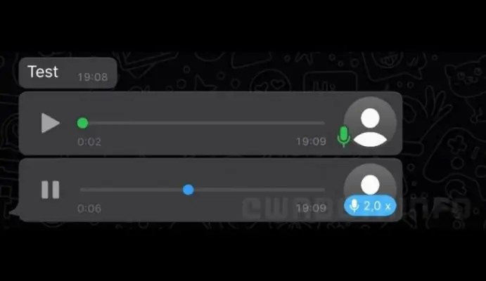 voice messages playback speed
