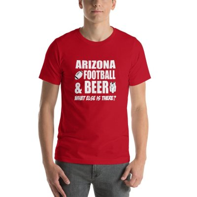 Arizona football mockup Front Mens Red