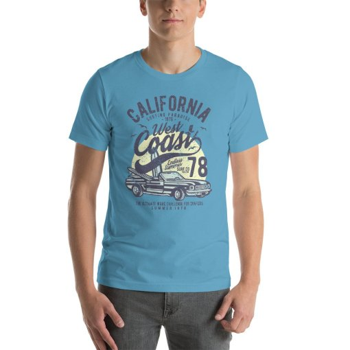California West Coast mockup Front Mens Ocean Blue