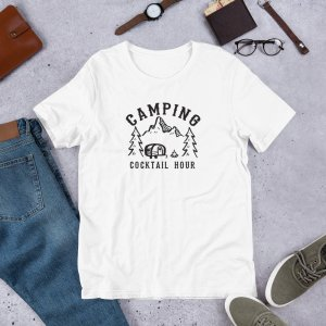 Camping Cocktail Hour mockup Front Flat Lifestyle White