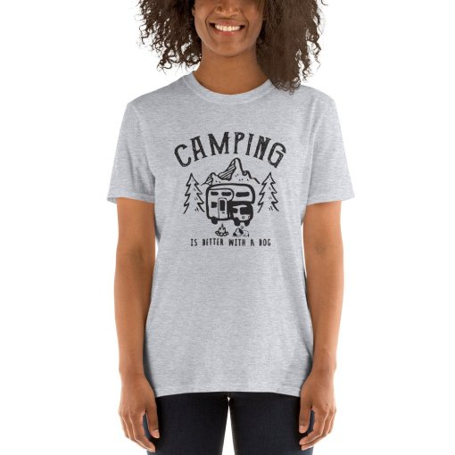 Camping is better with a dog 1a mockup Front Womens 2 Sport Grey