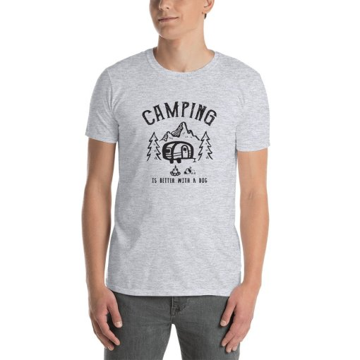 Camping is better with a dog 2a mockup Front Mens Sport Grey