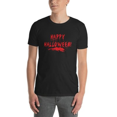 Happy Halloween Bloody mockup Front Mens Black