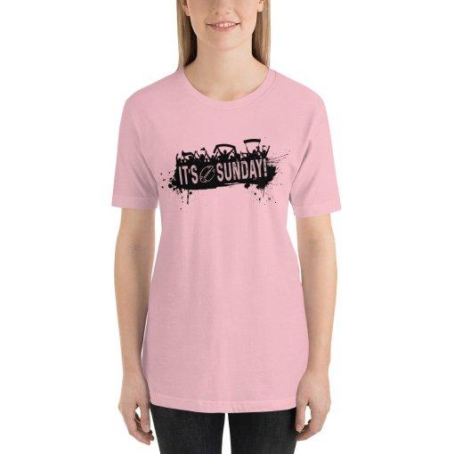 Its Sunday mockup Front Womens Pink