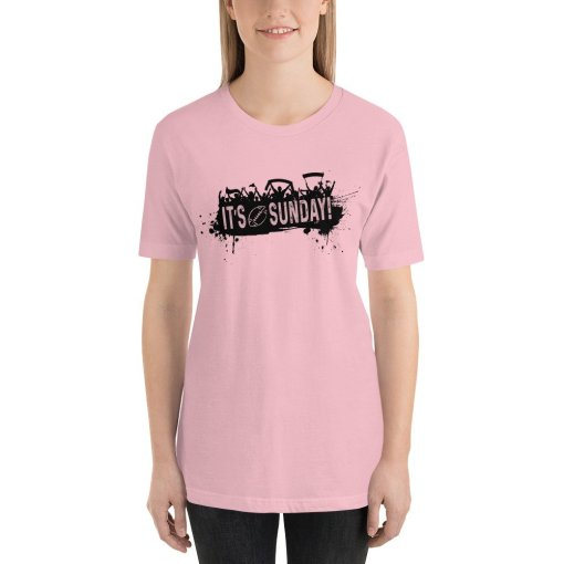 Its Sunday mockup Front Womens Pink