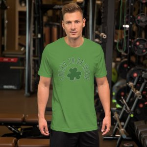 Lucky 2b Irish 1a mockup Front Mens Lifestyle Leaf