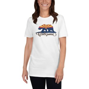 calizona 2a mockup Front Womens 1 White