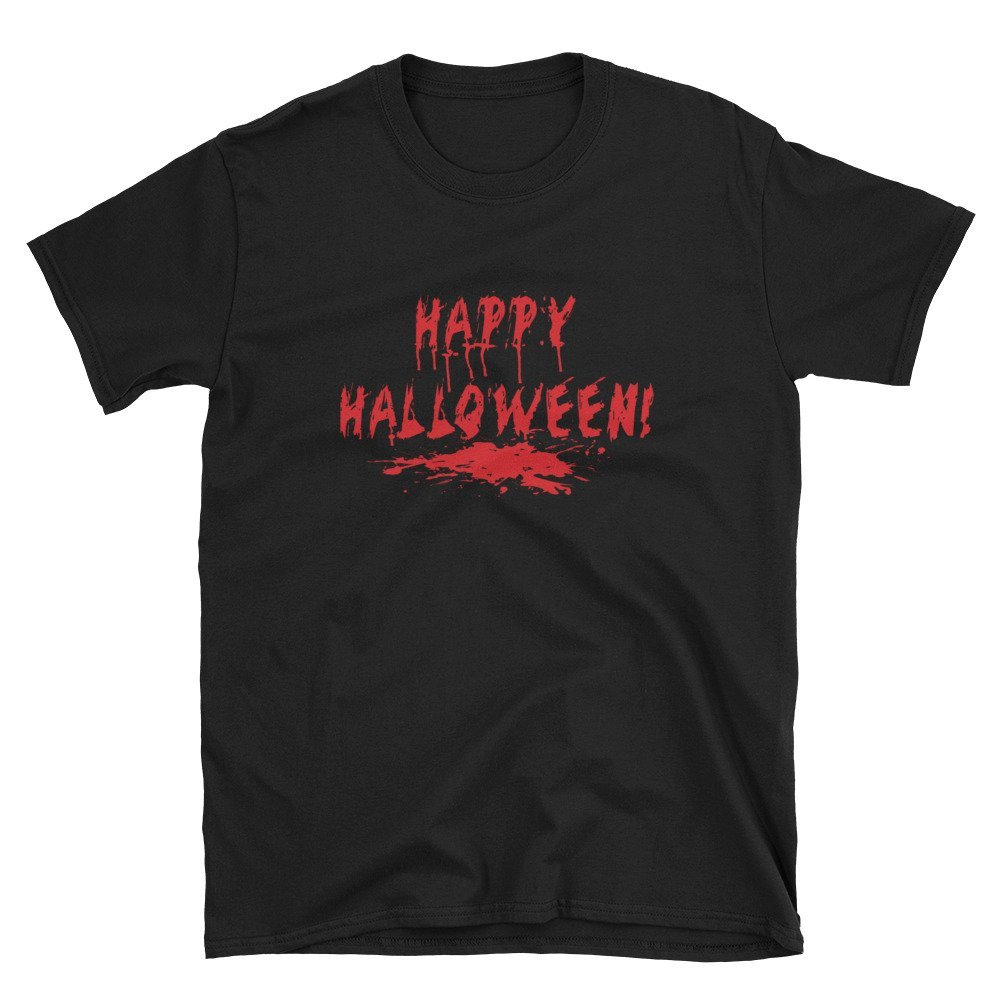 Happy Halloween in Blood Red print Unisex T-Shirt