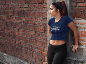 Girl wearing Hogfish Studios T-shirt