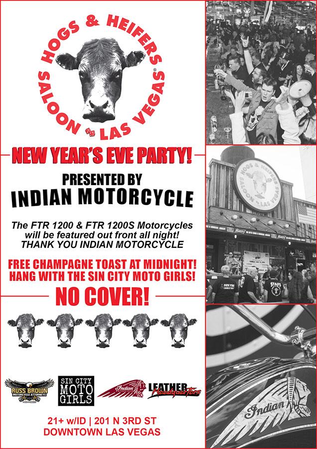 Hogs & Heifers Saloon NYE 11 WEB