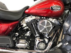 Red Harley Engine