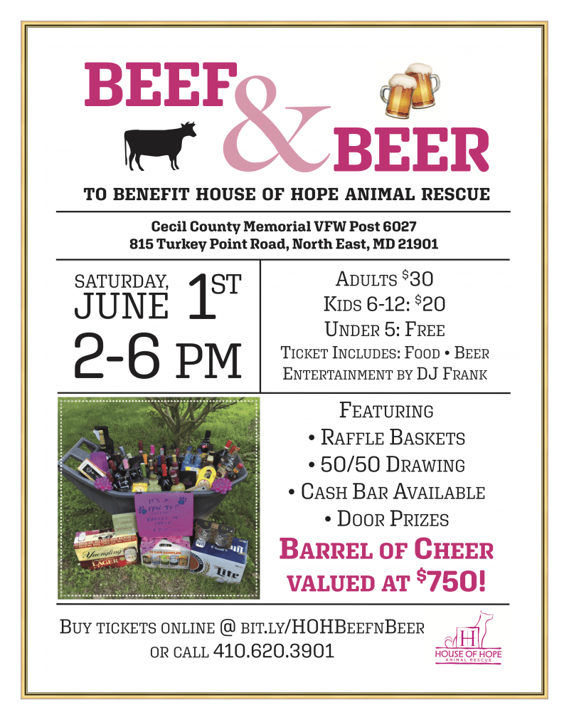 Beef and Beer Fundraiser for Homeless Dogs