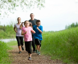 running is a family activity