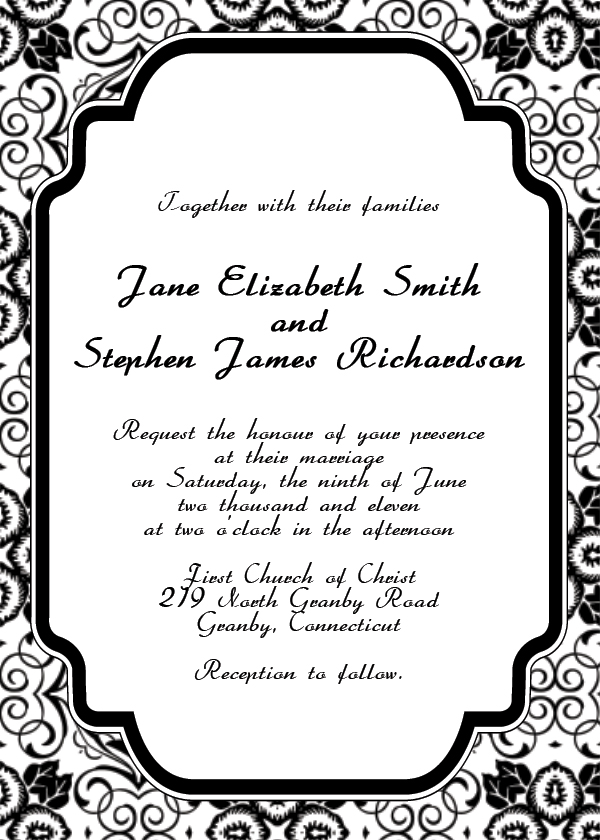 Free Online Printable Wedding Invitations | wblqual.com