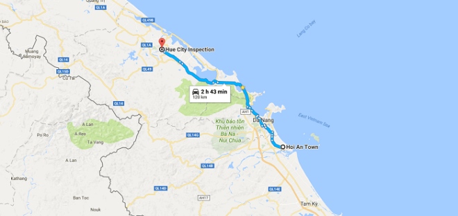 Travel blog Hoi An to Hue
