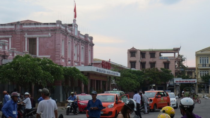 Hue train station with French colonial style