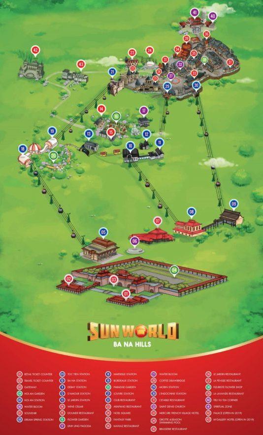 Chart of Bana Hills, Danang