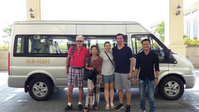 Hoi An Private driver say goodbye at your hotel in Hue city