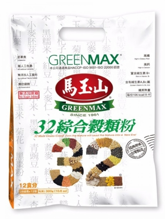 "(English) ""GREENMAX"" 32 MULTI GRAINS CEREAL"