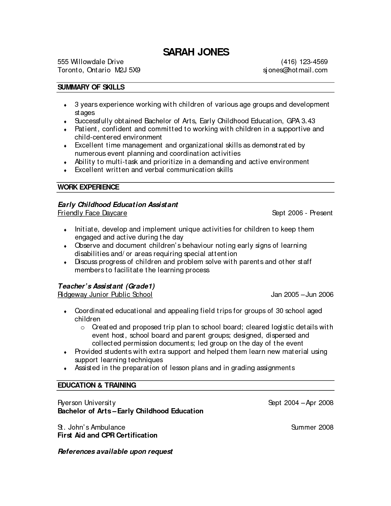 ece sample resume resume cv cover letter. electronics and ...