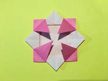 折り紙のメダルの作り方15