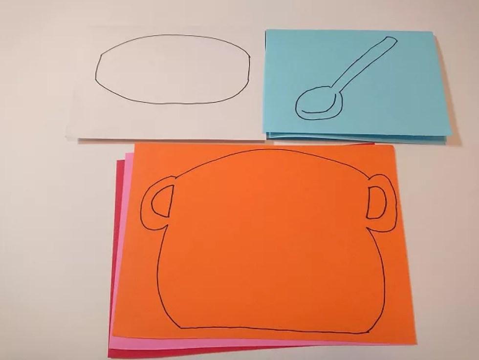 鍋の絵を描いたところ