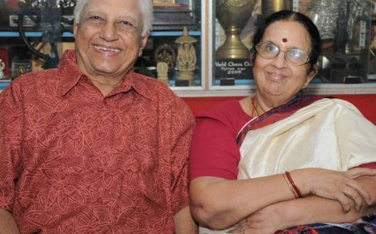 Viswanathan Anand parents