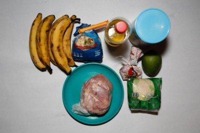Comida para uma semana para uma família de cinco