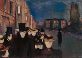 """Edvard Munch - """"Tarde em Karl Johan"""""""