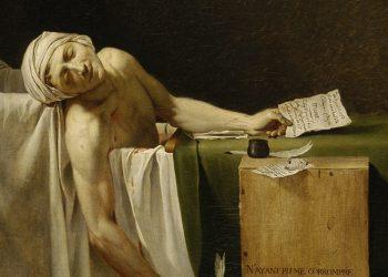 """J. Louis David - """"Morte de Marat"""""""