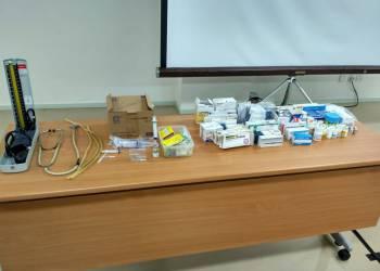 Materiais encontrados na falsa clínica. HM