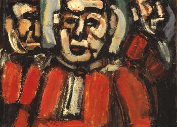 The Three Judges c.1936 Georges Rouault 1871-1958 Bequeathed by Montague Shearman through the Contemporary Art Society 1940 http://www.tate.org.uk/art/work/N05146