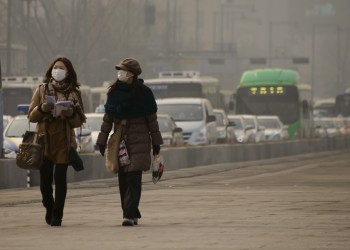 South Korea has the worst air pollution among the developed nations in the the Organization for Economic Cooperation and Development (OECD