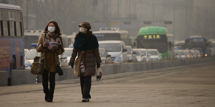 South Korea has the worst air pollution among the developed nationsin thethe Organization for Economic Cooperation and Development (OECD