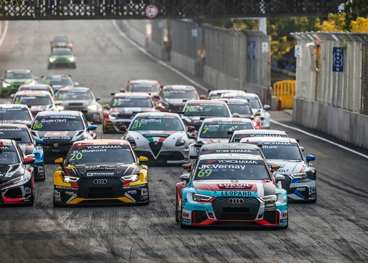 START RACE 1 69 VERNAY Jean-Karl, (fra), Audi RS3 LMS TCR team Audi Sport Leopard Lukoil, action during the 2018 FIA WTCR World Touring Car cup of China, at Wuhan from october 5 to 7 - Photo Jean Michel Le Meur / DPPI