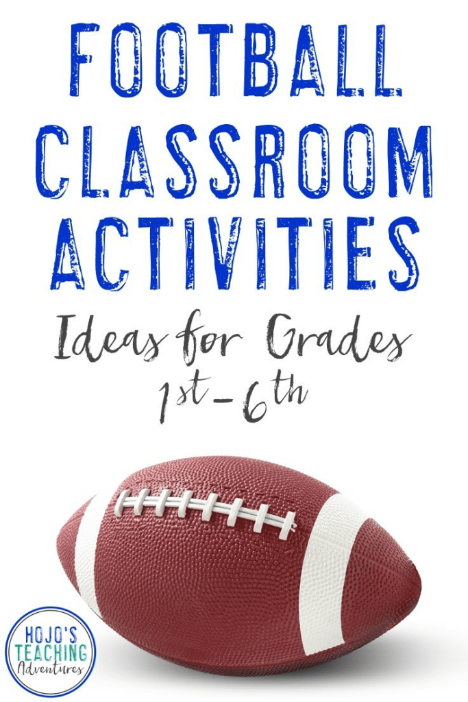 Find great football classroom activities here! Celebrate football season in the fall for your local high school team, or use these ideas to celebrate college or NFL football in the classroom. They also work well for the Super Bowl! Reading, math, social studies, writing, and other random ideas are all included in one convenient post. Many of the ideas are FREE! Great to use with your 1st, 2nd, 3rd, 4th, 5th, or 6th grade classroom and homeschool students! {football freebie}