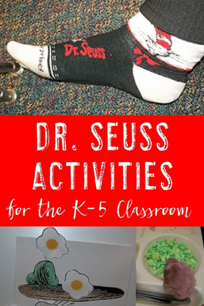 If you're looking for great Dr. Seuss activities and ideas for your classroom - this is it! Teachers in Kindergarten, 1st, 2nd, 3rd, 4th, and 5th grade will get dress up ideas, freebies to do in the classroom, and MORE!