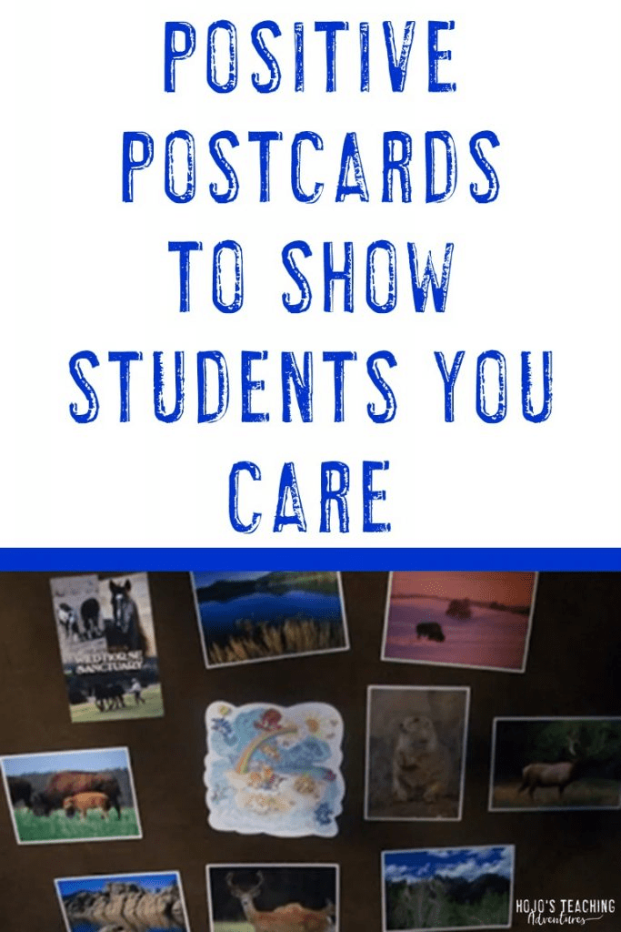 positive postcards show students you care
